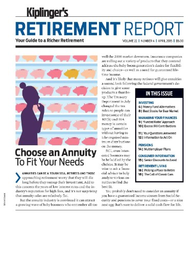 Read the latest issue of Kiplinger's Retirement Report