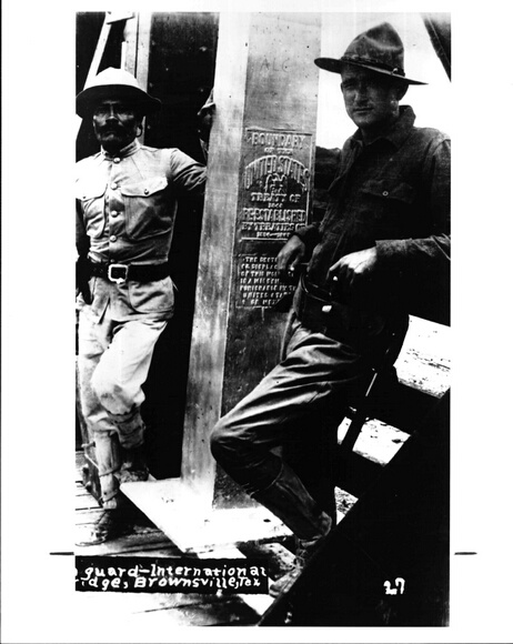 Guards at the U.S./Mexico border at Brownsville,  Texas,  around 1915
