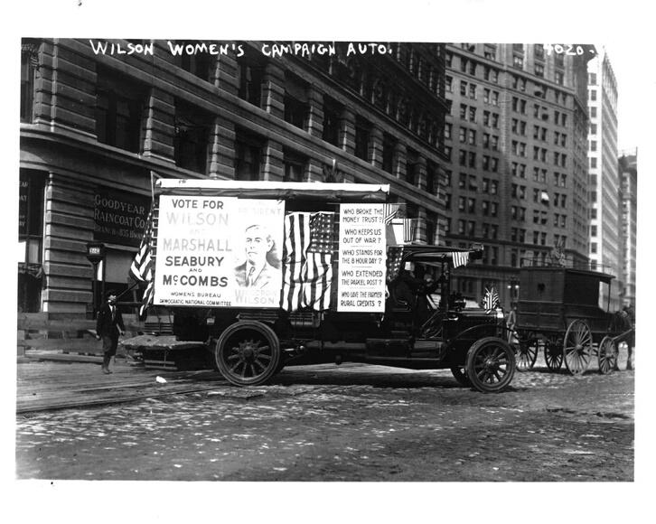 Woodrow Wilson campaign van