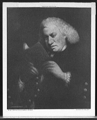 Portrait of essayist and poet Dr. Samuel Johnson (a.k.a. Dr.Johnson).
