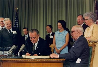 Medicare Bill Signing. July 30, 1965