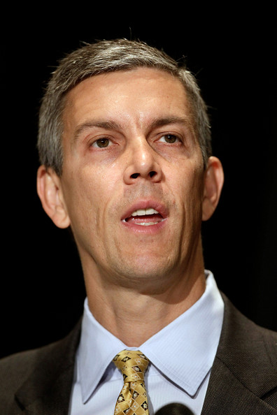 Arne Duncan Convenes First-Ever Bullying Summit: WASHINGTON - AUGUST 11:  U.S. Education Secretary Arne Duncan addresses the opening session of the first federal Bullying Prevention Summit August 11, 2010 in Washington, DC. Duncan said that 8.2 million students reported being bullied during the 2007 school year.  (Photo by Chip Somodevilla/Getty Images)