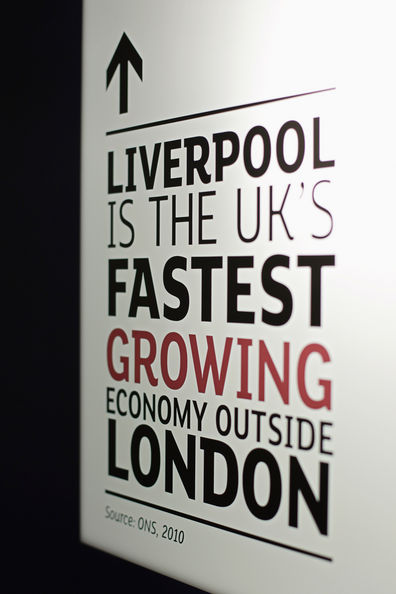 Liverpool Is The First UK City To Open Their Own London Business Embassy: LONDON, ENGLAND - JANUARY 21:  A  promotional sign is displayed during the launch of the new Liverpool Business Embassy on January 21, 2011 in London, England. Liverpool is the first UK city to open it's own London business embassy which is an ambitious attempt to secure vital investment for the city, building on its global fame.  (Photo by Dan Kitwood/Getty Images)