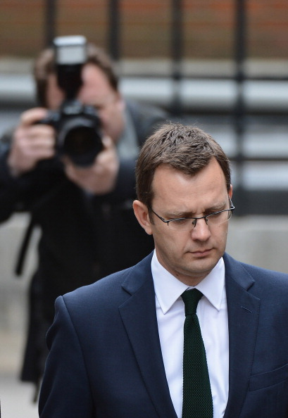LONDON, ENGLAND - MAY 10:  Andy Coulson, former editor of the News of The World and former director of communications for the Conservative Party, arrives at The Royal Courts of Justice to give evidence to the Leveson Inquiry on May 10, 2012 in London, England. This phase of the inquiry into the culture, practice and ethics of the press in the United Kingdom is looking at the owners of various media groups. The inquiry, which may take a year or more to complete, comes in the wake of the phone hacking scandal that saw the closure of The News of The World newspaper in 2011.  (Photo by Christopher Furlong/Getty Images)