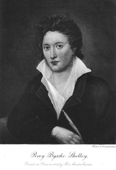 Percy Shelley-The English poet Percy B Shelley (1792 - 1822).   (Photo by Hulton Archive/Getty Images)  -- Image Date: 01/01/1820  -- Image Date: 01/01/1820