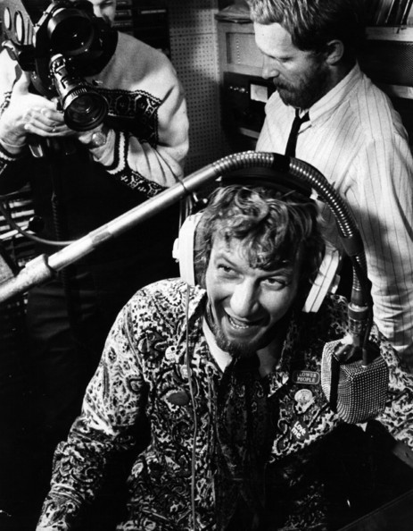 Pirate Disc Jockey The 'World in Action' team making a program about the 'pirate' radio ship Radio Caroline, which was moored off the east coast.   (Photo by Evening Standard/Getty Images)  -- Image Date: 01/01/1965  -- Image Date: 01/01/1965