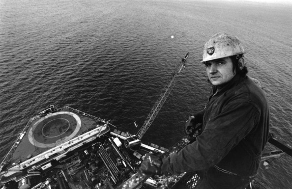 Offshore Oil A British Petroleum worker on the North Sea oil rig Sea Quest.   (Photo by David Cairns/Getty Images)  -- Image Date: 30/11/1973  -- Image Date: 30/11/1973