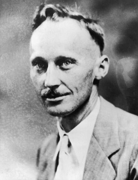 John Thomas Scopes: 1932:  Headshot portrait of American science teacher John Thomas Scopes, who was tried for teaching Darwin's Theory of Evolution to a Tennessee high school science class. His case became known as the 'Scopes Monkey Trial.'  (Photo by American Stock/Getty