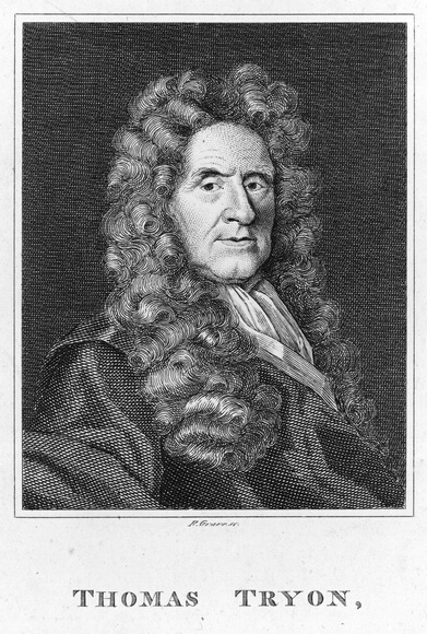 Circa 1700, Thomas Tryon (1634 - 1703). English dietary reformer who was against animal cruelty and advocated vegetarianism. He was the author of 'A Treatise of English Herbs' and 'The Way to Health, Long Life and Happiness'. (Photo by Archive Photos/Getty Images)