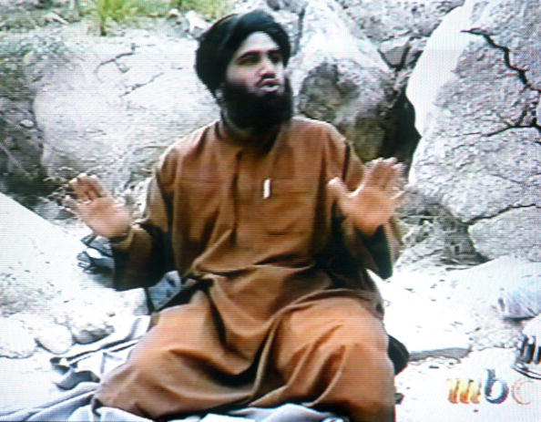 This frame grab from the Saudi-owned television ne: UNSPECIFIED:This frame grab from the Saudi-owned television network MBC (Middle East Broadcasting Center) shows Suleiman Abu Ghaith, the spokesman of alleged terror mastermind Osama bin Laden's al-Qaeda network, claiming responsibility for the September 11 suicide attacks in the United States in an undated videotape broadcast by the Dubai-based MBC 17 April 2002. Bin laden hailed the economic losses suffered by the US as a result of the attacks on Washington and New York in the same tape which was reportedly recorded in December.