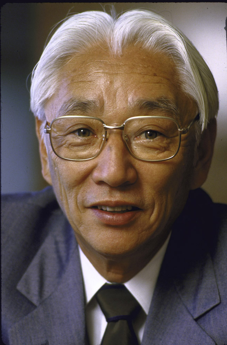 NEW YORK, UNITED STATES - JUNE 1985:  Sony President Akio Morita.  (Photo by Bill Pierce/Time & Life Pictures/Getty Images)