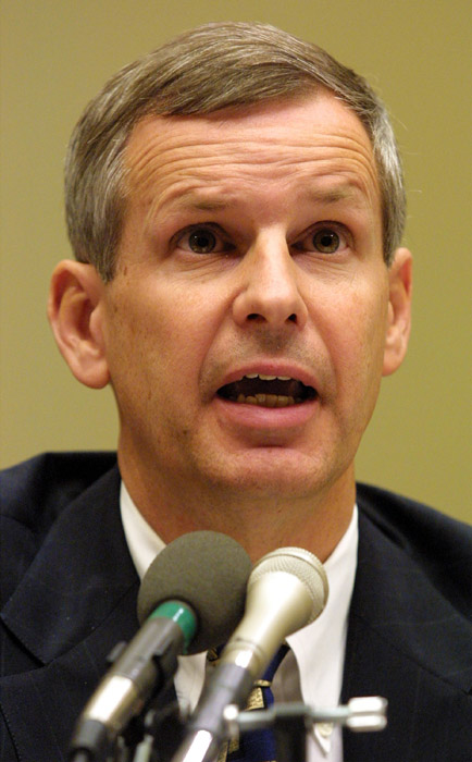 398147 08: Charlie Ergen, CEO of EchoStar, testifies before a House Subcommittee on Telecommunications and the Internet during a hearing on