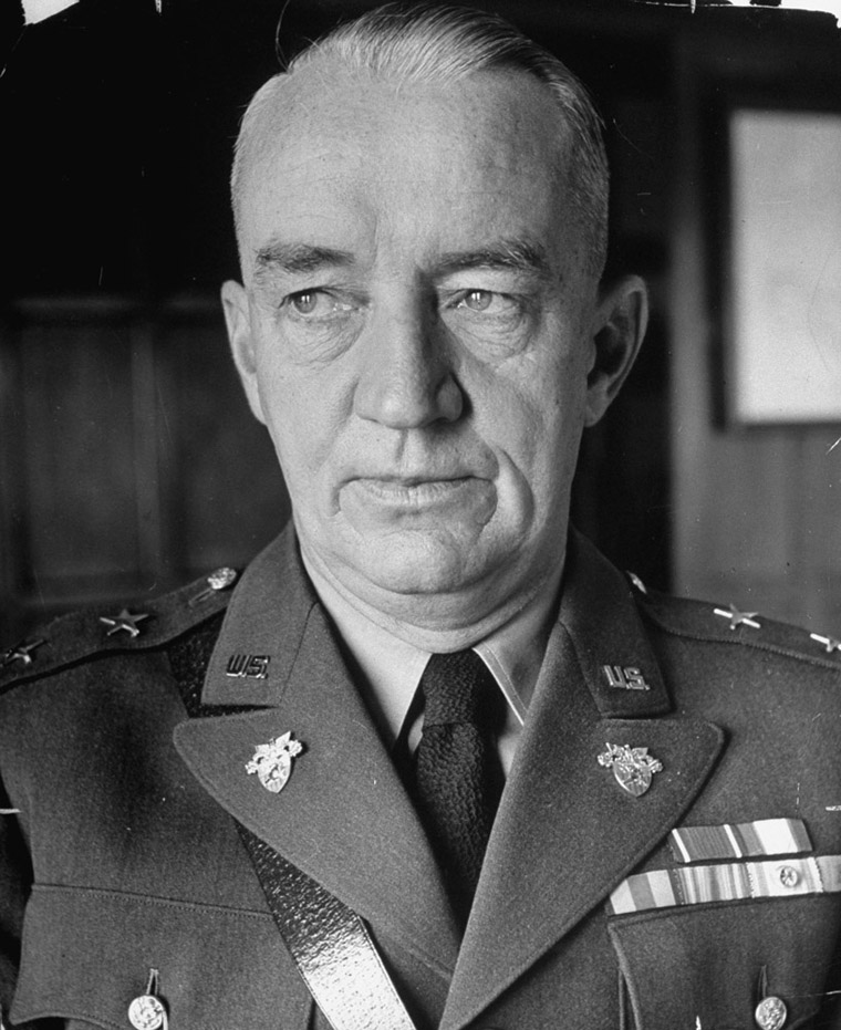WEST POINT, UNITED STATES - JANUARY 01:  Superintendent Major General Robert L. Eichelberger of the US Military Academy at West Point.  (Photo by Alfred Eisenstaedt/Time & Life Pictures/Getty Images)