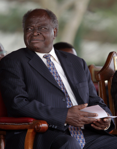 President Mwai Kibaki Launches Secondary School Education Program: NAIROBI, KENYA - FEBRUARY 11:  President Mwai Kibaki attends his first public event, to launch an education program for secondary schools, at the Jamhuri High School on February 11, 2008 in Nairobi, Kenya. Kenya's rival parties are on the verge of a power-sharing deal to end a deadly political crisis over the disputed re-election of President Mwai Kibaki. Talks will resume today with former U.N. chief Kofi Annan mediating. While the streets remain calm, Kenya's economy has been hit by the ongoing violence. Over 300 thousand people have been driven from their homes creating a potential humanitarian disaster, sparked by December's disputed elections. According to the Red Cross the death toll has surpassed 1,000.  (Photo by Paula Bronstein/Getty Images)