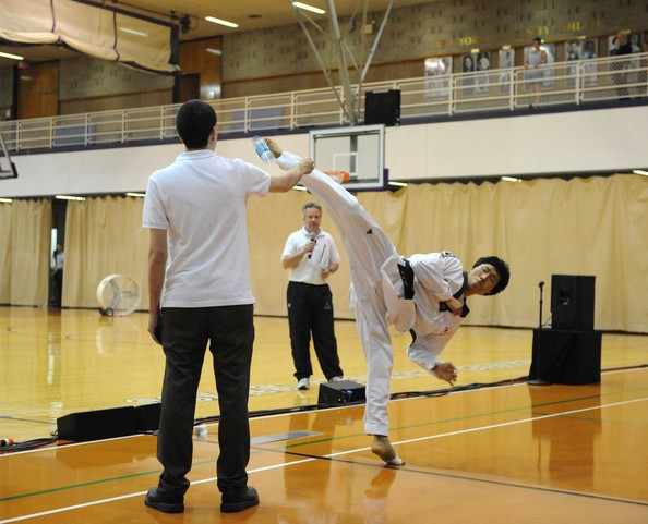 World Science Festival: NEW YORK - MAY 31: A martial artist demonstrates a movement at the