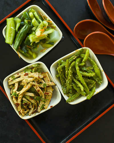 Typical Taiwanese cold vegetarian appetizers