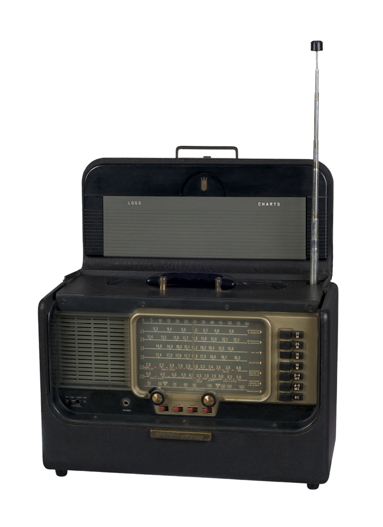 Antique Portable Shortwave Radio on White