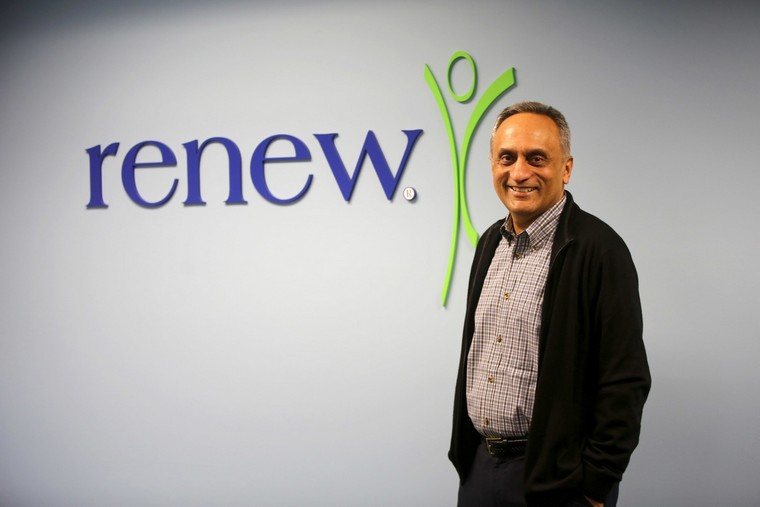 Manoj Bhargava, CRO of Renew, Clear Sky Energy & Water and 5-hour Energy, at the Renew Research Center on Wednesday, Sept. 21, 2016 in Farmington Hills, Mich. (Kimberly P. Mitchell/Detroit Free Press/TNS)