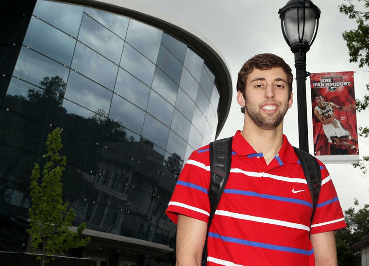 UGA basketball player Connor Nolte stands outside Stegeman Coliseum in Athens, Georgia, on April 19, 2012. He has a website, www.ConnorNolte.com, a blog, a YouTube channel and he's on Twitter, LinkedIn and Facebook. Social media can be a boon for high school students and young adults like Nolte seeking a coveted internship, employment in the tight job market or a slot in this fall's freshman class. But college admissions officers and employment experts say it also can have the opposite effect. (Phil Skinner/Atlanta Journal-Constitution/MCT)