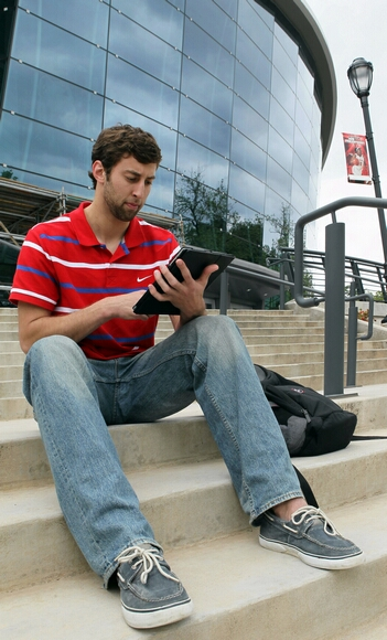 UGA basketball player Connor Nolte, pictured outside Stegeman Coliseum in Athens, Georgia, on April 19, 2012, has a website, www.ConnorNolte.com, a blog, a YouTube channel and he's on Twitter, LinkedIn and Facebook. Social media can be a boon for high school students and young adults like Nolte seeking a coveted internship, employment in the tight job market or a slot in this fall's freshman class. But college admissions officers and employment experts say it also can have the opposite effect. (Phil Skinner/Atlanta Journal-Constitution/MCT)