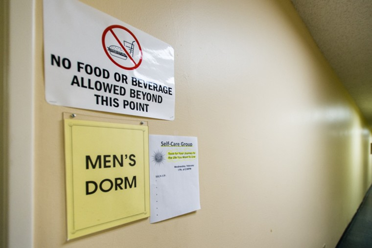 The men's dorm at the Illumination Foundation Recuperative Care in Santa Fe Springs, Calif. The organization offers housing assistance, medical care and mental health services to the homeless population in the area. (Heidi de Marco/Kaiser Health News/TNS)