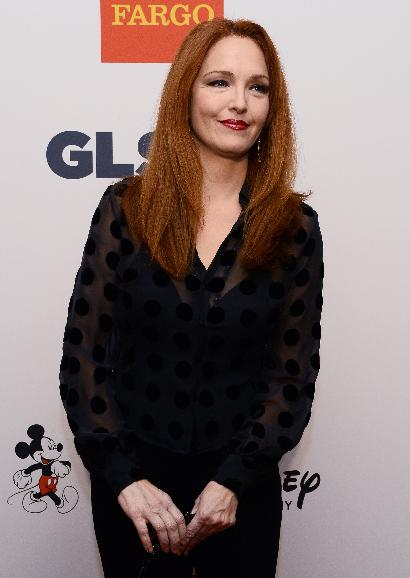 GLSEN Respect Awards held in Beverly Hills, California: Actress Amy Yasbeck arrives for the 9th annual GLSEN Respect Awards at the Beverly Hills Hotel in Beverly Hills, California on October 18, 2013. The awards presented honor leaders in the struggle against bullying in schools.  UPI/Jim Ruymen