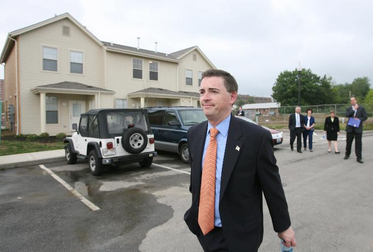 U.S. TREASURY DEPARTMENT AWARDS $195 MILLION IN MISSOURI COMMUNITY DEVELOPMENT AWARDS: Deptuty Assistant Secretary of the U.S. Treasury Dan Iannicola, Jr., tours a new home at the Renaissance Place at Grand after awarding $195 million in Missouri Community Development Awards to help finance new housing projects, economic growth and create jobs in St. Louis on June 1, 2006. Treasury officials have awarded $4.1 billiion in tax credits awards across the country including $600 million allocated specifically for the redevelopment of the Hurricane Katrina Gulf Opportunity Zone. (UPI Photo/Bill Greenblatt)