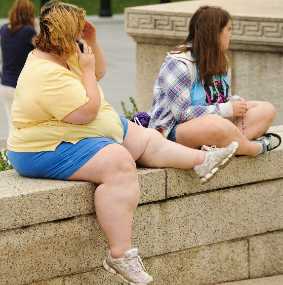 Obesity in the United States on the rise: A woman sits the National Mall in Washington DC on August 13, 2010. Obesity in the United States has increased to 2.4 million obese Americans since 2007, according to a report released this week by the Centers for Disease Control and Prevention (CDC). UPI/Alexis C. Glenn